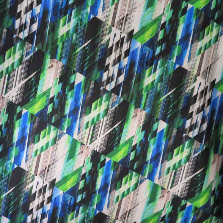 Matrix Green Blue Wide Back Fabric