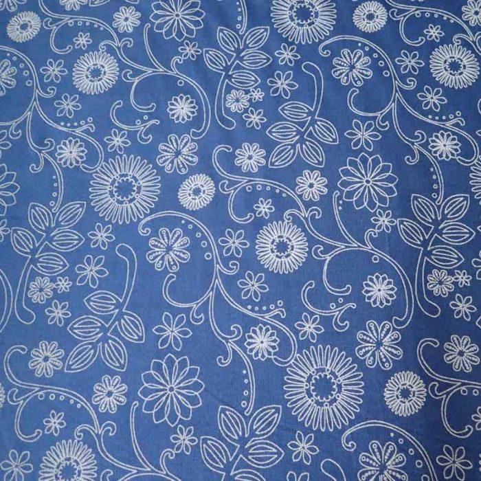 Caribbean Blue Wide Back Fabric