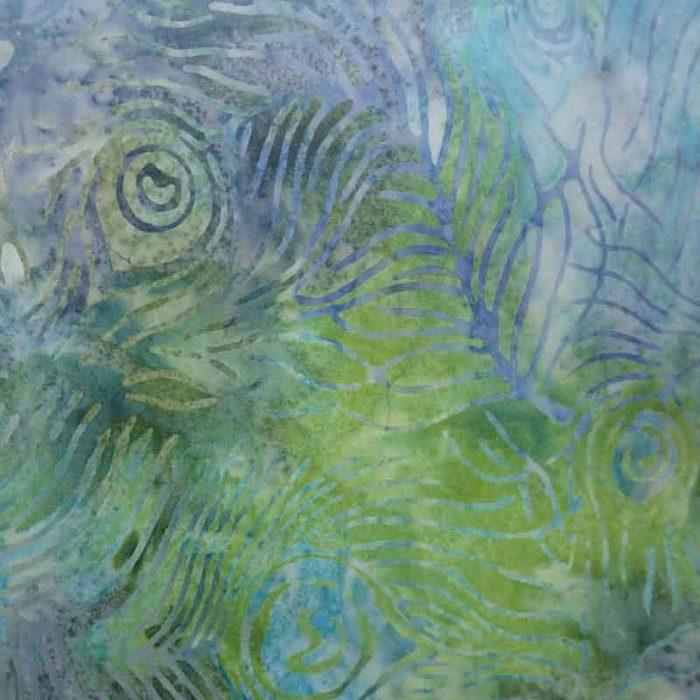 Green Peacock Batik